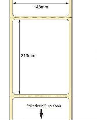 148 x 210mm TT Premium Kuşe Kağıt Etiket