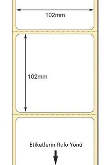102 x 102mm TT Premium Kuşe Kağıt Etiket