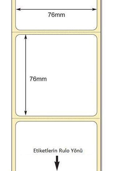 76 x 76mm TT Premium Kuşe Kağıt Etiket