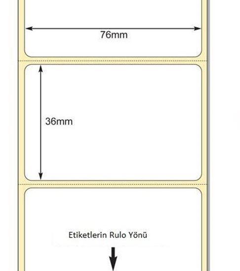 76 x 36mm TT Premium Kuşe Kağıt Etiket