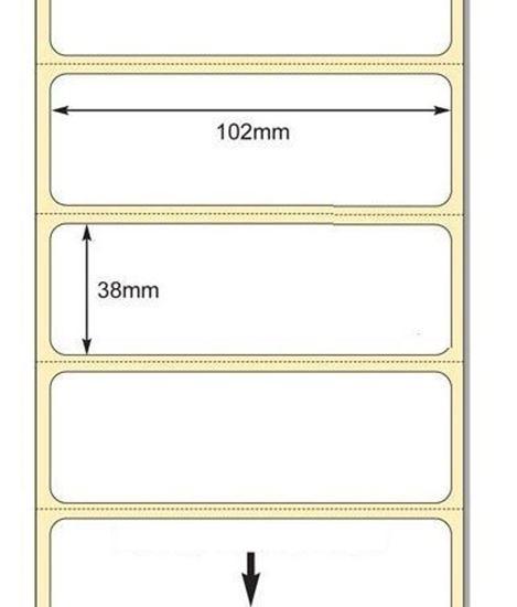 102 x 38mm TT Premium Kuşe Kağıt Etiket