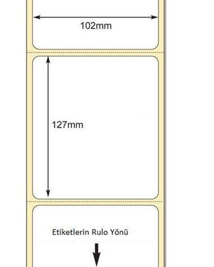 102 x 127mm TT Premium Kuşe Kağıt Etiket