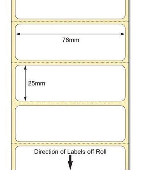 76 x 25mm TT Premium Kuşe Kağıt Etiket