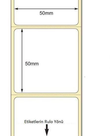 50 x 50mm TT Premium Kuşe Kağıt Etiket