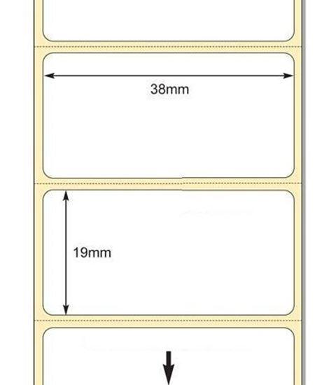 38 x 19mm TT Premium Kuşe Kağıt Etiket