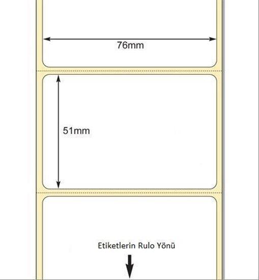 76 x 51mm TT Premium Kuşe Kağıt Etiket