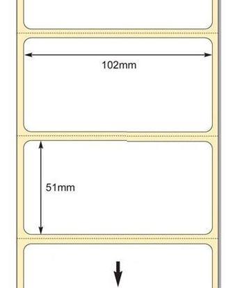 102 x 51mm TT Premium Kuşe Kağıt Etiket