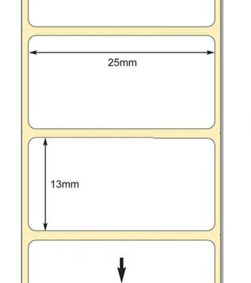 25 x 13mm TT Premium Kuşe Kağıt Etiket