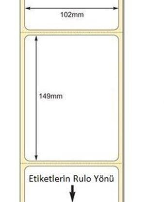 102 x 149mm TT Premium Kuşe Kağıt Etiket