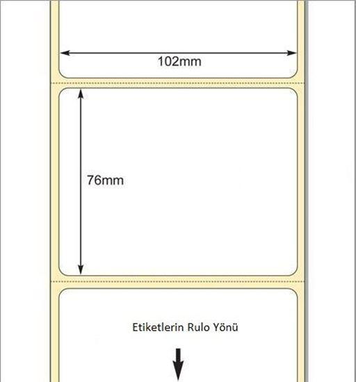 102 x 76mm TT Premium Kuşe Kağıt Etiket