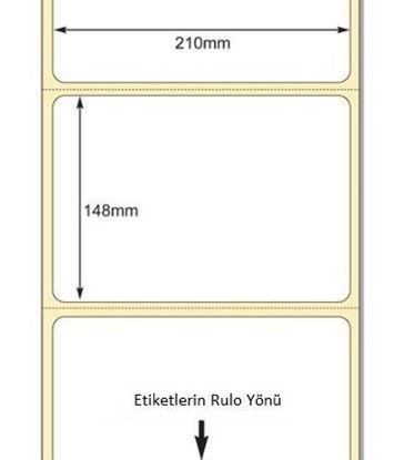 210 mm x 148 mm Direkt Termal Etiket