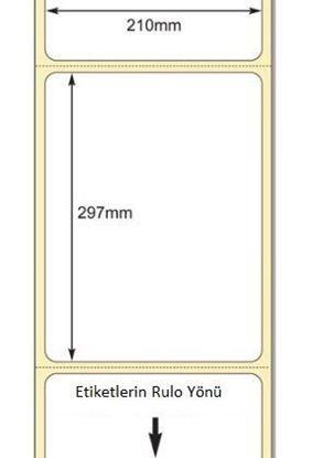 210 mm x 297 mm Direkt Termal Etiket