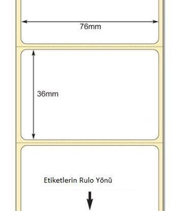 76 mm x 36 mm Direkt Termal Etiket