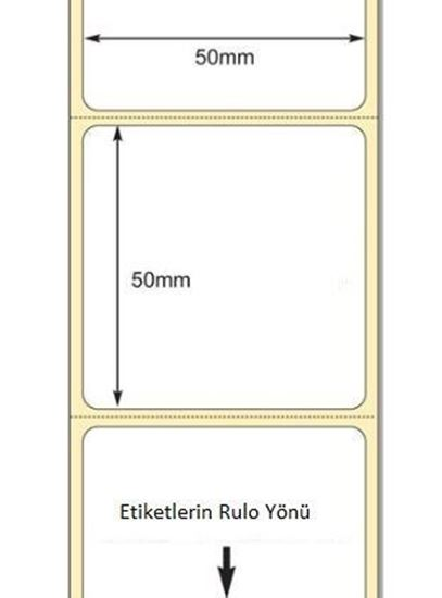 50 mm x 50 mm Direkt Termal Etiket