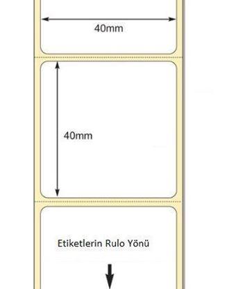 40 mm x 40 mm Direkt Termal Etiket