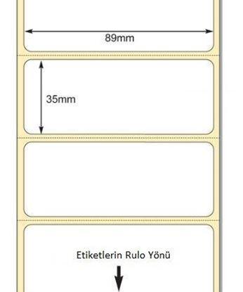89 mm x 35 mm Direkt Termal Etiket