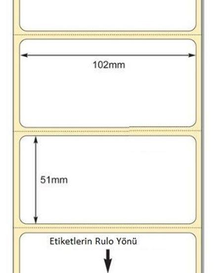 102 mm x 51 mm Direkt Termal Etiket