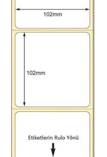 102 mm x 102 mm Direkt Termal Etiket