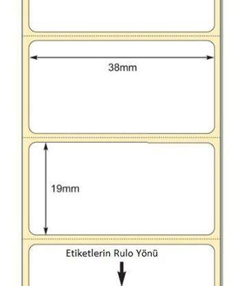 38 mm x 19 mm Direkt Termal Etiket
