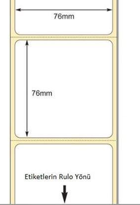 76 mm x 76 mm Direkt Termal Etiket
