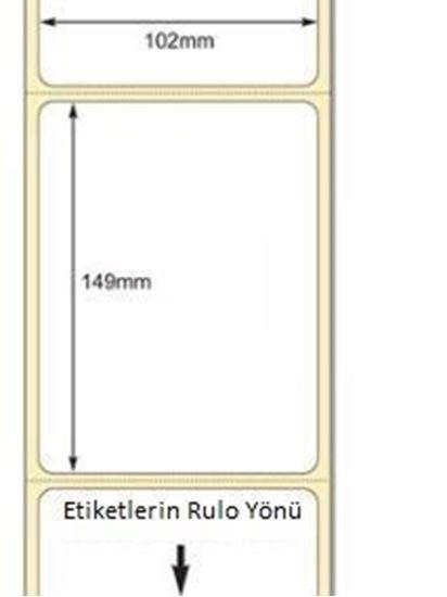 102 mm x 38 mm Direkt Termal Etiket
