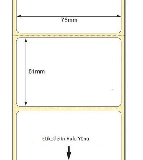 76 mm x 51 mm Direkt Termal Etiket
