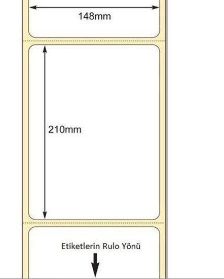 148 mm x 210 mm Direkt Termal Etiket