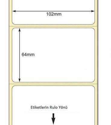 102 mm x 64 mm Direkt Termal Etiket