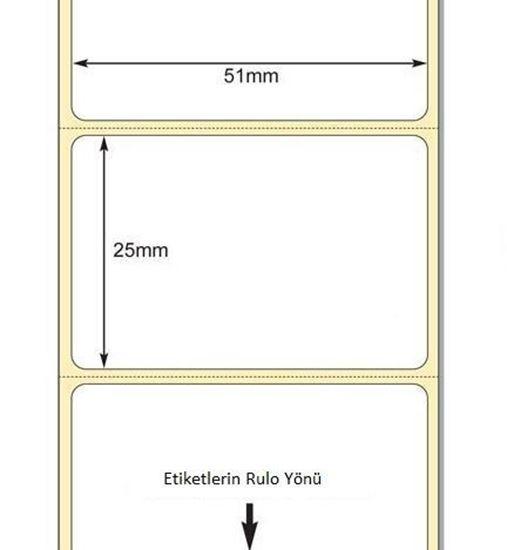 51 mm x 25 mm Direkt Termal Etiket