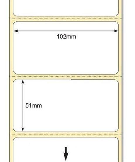 102 x 51 mm Direkt Termal Etiket