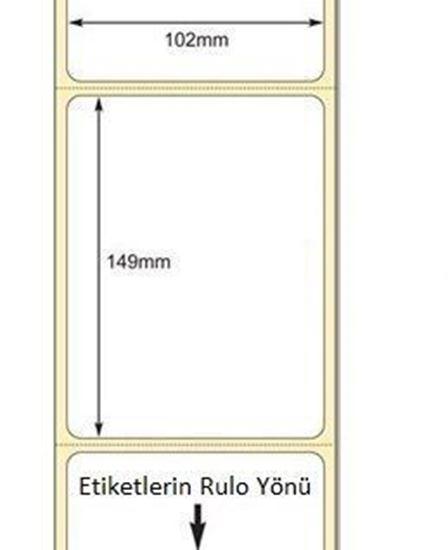 102 x 149 mm Direkt Termal Etiket
