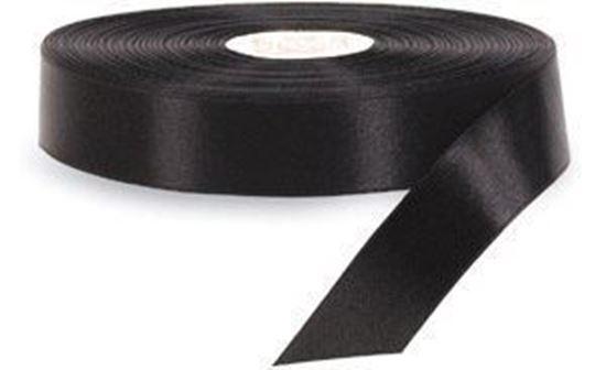 15mm*200m Siyah Saten Akmaz resmi