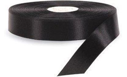 20mm*200m Siyah Saten Akmaz resmi