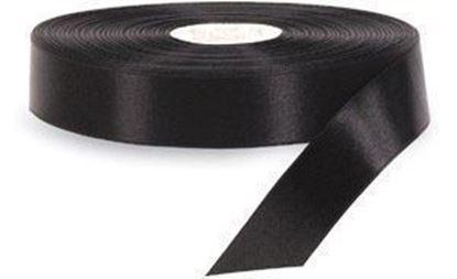 25mm*200m Siyah Saten Akmaz resmi